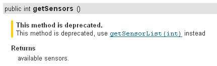サポートしているセンサー(Sensor)の一覧の取得方法